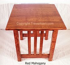 Handcrafted Mission Craftsman Quarter Sawn Oak Accent End Table 27 Colors