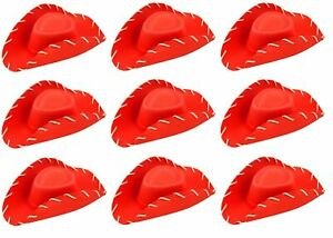 10 X ADULT LADIES RED COWBOY COWGIRL STETSON HAT HEN NIGHT PARTY STYLE QR21