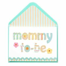 Papyrus Mother's Day Greeting Card Fabric & Stitched Lettering (For Mommy to Be)