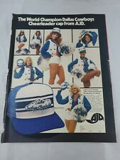 Vtg Ads 1978 2 Sided Muppets And Dallas Cowboys Cheerleaders