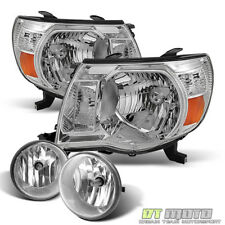 For 2005-2011 Toyota Tacoma Headlights +Bumper Fog Lamps Lights w/Switch 05-11