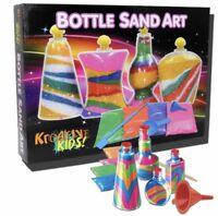 SAND ART CRAFT CREATIVE ACTIVITY GAME SET GIFT TOY CHILDREN KIDS BOTTLE DIY NEW