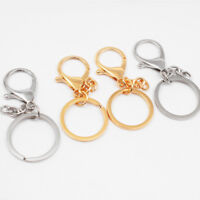 10pcs Lobster Keychain Car Key Ring Chain Belt Clasp Clip Snap Trigger Hook