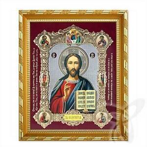 Icon of Jesus Christ wood 21x18 K Господь Вседержитель Спаситель 1 икона
