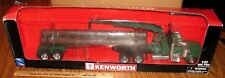 Kenworth W900 Semi Logging Truck Trailer 1/32 New Ray Toy Grapple Logger Hauler