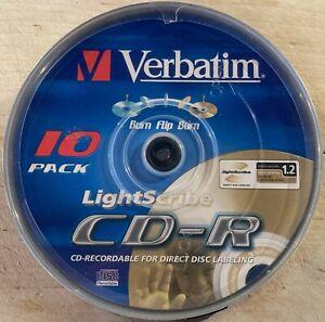 10er Spindel - Verbatim - LIGHTSCRIBE - CD-R - 700MB/80min - 1-52x - NEU & OVP.!