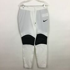 Nike Dri-Fit Padded Pants Mens Medium white gray football sports athletic New