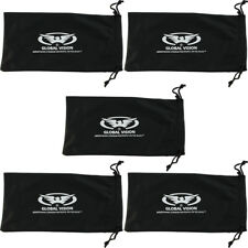 5 BLACK Microfiber Pouch Bag Case for Sunglasses Eyeglasses iphone new