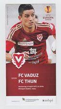 ORIG. PRG Europa League 2015/16 FC Vaduz-FC Thun!!! RARO