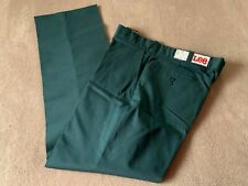 Nwt Vintage Deadstock Lee Work Pants Polyester Cotton Green Men'S 36 X 31 Usa