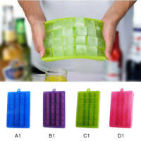 24 Grid Silicone Ice Cube Mould Square Mold DIY Maker With Lid Ice Tray Box New