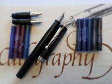 Vintage Sheaffer Calligraphy Fountain Pen Set Nibs Ink Cartridges
