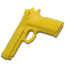 "Yellow Rubber Training Gun 7"" Overall Police Dummy Non Firing Real Feel"
