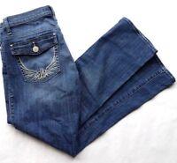 Rock & Republic Kendall Jeans Women's Size 10 Stretch Denim Flap Pockets