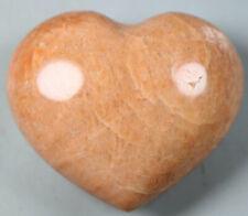 Natural Sunstone Crystal Rock Crystal Polished Heart Shape Mineral Specimen