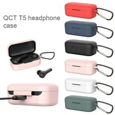 Silicone Case For QCY T5 NEW Protective Cover With Anti-lost Buckle For QCY T5