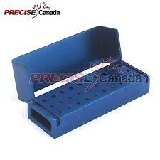 30 HOLES DENTAL ALUMINUM BUR BURS HOLDER BOX AUTOCLAVE BLUE COLOR DN-2086