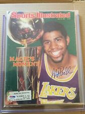 Magic Johnson Signed 1980 Magazine - PSA DNA Authentic