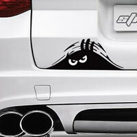 Car SUV Exterior Rear Windshield Angry Peeking Monster Auto Decal Sticker