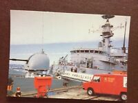 b1v postcard unused royal mail delivers to hms ambuscade plymouth