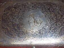 1890 MONOGRAM NIELLO SILVER 84 RUSSIAN IMPERIAL CIGARETTE CASE ANTIQUE RUSSIA