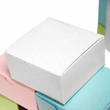 """White 100 pcs Cake FAVOR BOXES 4""""x4""""x2"""" Wedding Party Decorations GIFT Supply"""