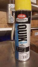 (12) Krylon Industrial Quik-Mark YELLOW 17oz. spray paint line marking parking