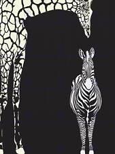 Gift #14558 A1 Zoo Animals Elephant Giraffes Poster Art Print 60 x 90cm 180gsm