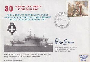 RFA Sir Galahad  Signed Phillip Roberts Master  Sir Galahad in Falklands War