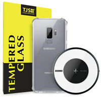 For Galaxy S9 / S9 Plus | Qi Fast Wireless Charger+Case+Glass Screen Protector