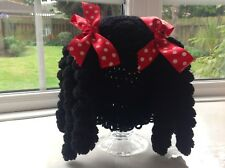 """Minnie Mouse Inspired """"CabbagePatch"""" Hat - Toddler 12mth. (Hand Crochet)"""