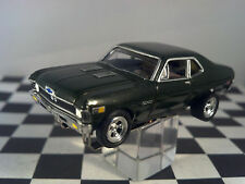 70 CHEVY NOVA SS Rare Olive Green T JET 500 HO SCALE SLOT CAR Cool-Wheels