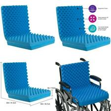 Egg Crate Sculpted Foam Seat Cushion with Full Back, Blue With Back