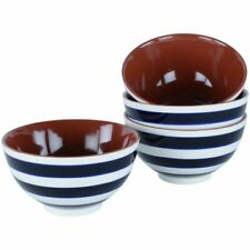 Blue & White Striped Marinho Rice Bowl, Soup Cereal Nibbles Dinnerware Serving