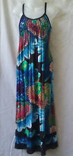 Sunnygirl Size 8 Maxi Dress Spun Rayon + Lace Summer Evening Casual Beach Party