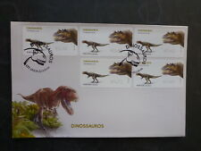 PORTUGAL 2015 DINOSAURS CERATOSAURUS SET 5 FRAMAS FDC FIRST DAY COVER