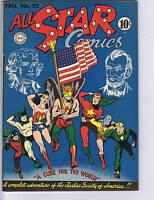 All Star Comics #22 DC 1944  Classic Flag Cover!