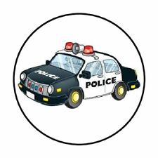"48 POLICE CAR ENVELOPE SEALS LABELS STICKERS 1.2"" ROUND"