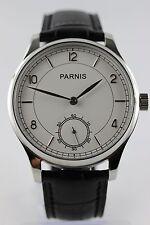 PARNIS Handaufzug SeaGull-ST3620 elegante Herrenuhr kleine Sekunde 44mm Neu