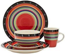 Gibson Home 97694.16r Casa Stella 16-Piece Dinnerware Set, Red