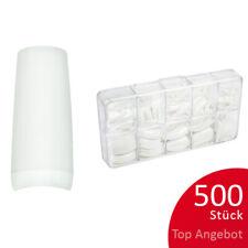 500St. Tipbox FRENCH Tipkasten Nageltips künstliche Nägel weiß C-Kurve NAILS