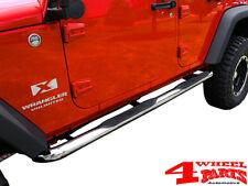 Schwellerrohre Trittbretter Ø75mm Edelstahl Jeep Wrangler JK Unlimited 07-18