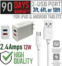 12W fast USB Adapter Wall Charger + USB Cable For Android Tablets,iPad [9