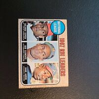 1968 Topps Orlando Cepeda Roberto Clemente Hank Aaron 1967 NL RBI Leaders #3 HOF