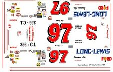 #97 Red Farmer Long_Lewis Ford 1/32nd Scale Slot Car Decals