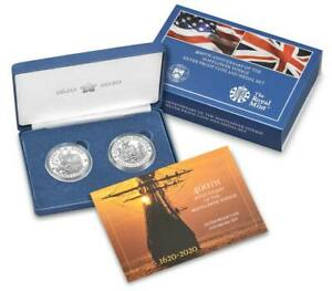 400th Anniversary of the Mayflower Voyage Silver Proof Coin and Medal Set (20XB)