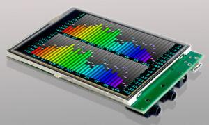 EVOR04-slim: Color LCD audio analyzer, VU meter, Oscilloscope, Spectrum