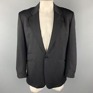 GENE MEYER 42 Regular Black Nylon Blend Notch Lapel Single Button Sport Coat