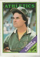 FREE SHIPPING-MINT-1988 (ATHLETICS) Topps #344 Tony LaRussa MANAGER +BONUS CARDS