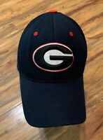 UGA Dawgs University of Georgia One Fit Hat Bulldogs Athens.Navy Black M-L VGC